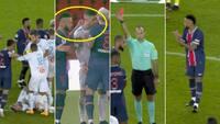 Vild ballade ender med 5 røde kort: PSG ved at tabe derby - så tænder Neymar og co. af