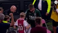 Rørende gestus: Ajax-fans hylder Schöne med stående bifald