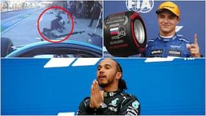Grimt mekaniker-uheld, vild kval og Hamilton-sejr nr. 100 - Se det hele fra F1 i Sochi her