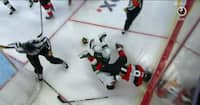 SLÅSKAMP: NHL-profiler tæver knytnæver mod hinanden og ender på isen