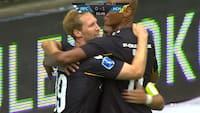 MÅL: Jonas Thorsen gør det til 1-0 for Horsens
