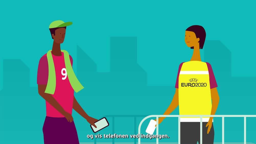 Mere end én million UEFA EURO 2020-billetter finder direkte vej til fansenes mobiltelefoner