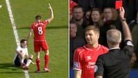 Ikonisk øjeblik: Gerrard vist ud efter 38 sekunder i kaptajnens allersidste rivalopgør mod United