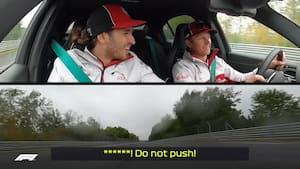Haha! 'F*** - er vi ikke snart færdige?!' - Så skrækslagen var Giovinazzi for at køre med Raikkonen på våde Nurburgring