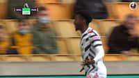 Anthony Elanga header Man Utd på 1-0 efter fantastisk indlæg fra Daniel James
