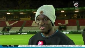 Dwamena efter hjerteproblemer: 'Jeg er meget taknemmelig for hvad klubben gør for mig'