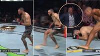 Mærkværdige billeder: Pludselig går han ud som et lys - UFC-præsident ser bekymret til