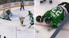 AV AV: Finsk stjerne blokerer Sidney Crosbys skud med fjæset