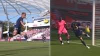 Fabelagtigt mål! Ligue 1-spiller flyver gennem luften og ninjasparker bolden i kassen