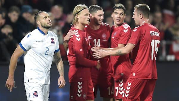 Danmark spadserer forbi Luxembourg i stilsikker testkamp