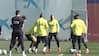 Braithwaite på træningsbanen med Messi - se billederne her