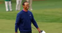 Rørt Tiger Woods takker golfspillere for rød-sort hyldest