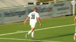 Frækt lob fra Adamsen sikrer FC Helsingør sejren over Fremad Amager - se målet her