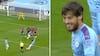 Kanonkasse! David Silva smækker frispark helt op at kysse overliggeren - se 1-0-målet her
